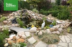 Ponds add a #water element to an outdoor space for a distinct Zen vibe. Which fish would you invite to live here? #BHGRE #gardens #http://homedecorpic.twitter.com/q0JAg14uEy