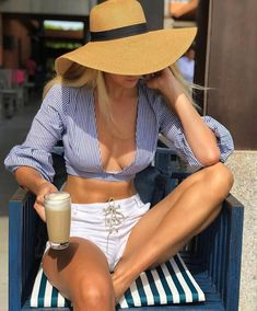 Summer must haves @shoptobi ❤️ 🔎'tobi boss lady stripped crop top' —-> shop link in bio