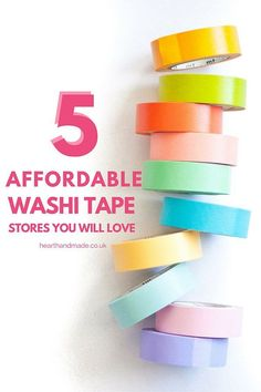 5 affordable washi tape stores you will love!!
