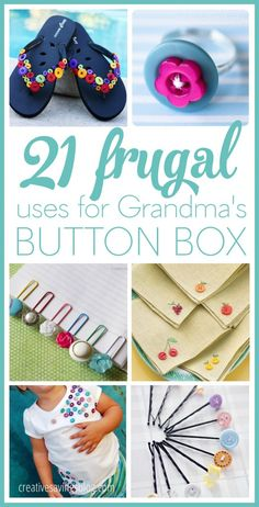 Need some thrifty ideas to use up all those buttons you've been saving? This list is full of DIY button projects that wow and inspire. You'll find all sorts of fun ways to jazz up plain clothes, repurpose old frames, create colorful jewelry, and more!