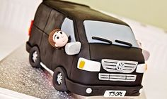 The Great British Bake Off is back on our screens and Observer Food Monthly would like to see your most inspired cakes Dark Chocolate Chips, Chocolate Cake, Camper Van Cake, Transporter Van, 40th Cake, 7th Birthday, Birthday Cakes, Great British Bake Off, Crazy Cakes