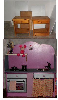 DIY : La Cuisinette (ou Kitchenette) Pour Enfants !   DIY   Pinterest    Kitchenette, Diy Play Kitchen And Craft