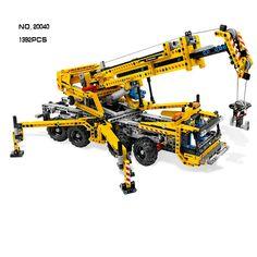 94.55$  Buy now - http://aliz3g.shopchina.info/1/go.php?t=32796358576 - NEW Lepin 20040 1392Pcs Technic Mechanical Series The Moving Crane Set Educational Building Blocks Bricks Toys Model Gift 8053 94.55$ #magazineonlinebeautiful