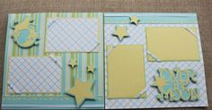 baby boy scrapbook page ideas | Nonna's Craft Corner: Another Scrapbook Layout for Yates