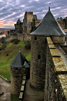Located about 500 miles south of Paris, Carcassonne is a historic medieval fortified town where you can still see the inner and outer walls that once protected the city from invaders. #travel #france