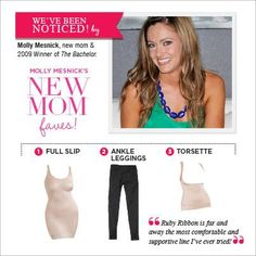 Great pieces for new moms!  Molly Mesnick is loving her Ruby Ribbon!    YOU will too!