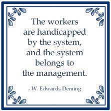 systeemdenken deming system management handicapped