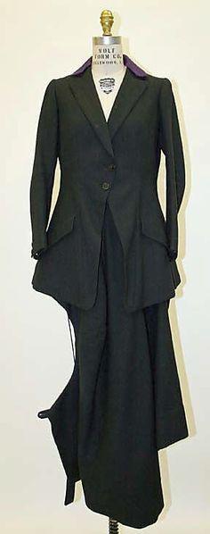 "Riding Habit, Busvines & Co. Paris (French): 1927, British, wool.    Marking: [label] ""Busvines, London"""