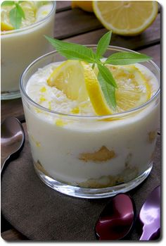 Tiramisù al limone (tiramisu au citron)  #recette #tiramisu #citron