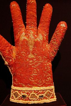 These gloves were made in the early13th centuryfor the coronation of Emperor Frederick II.