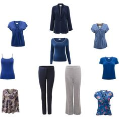 """Blue and grey capsule - East"" by sue-walker on Polyvore"