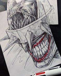 Batman Drawing, Drawing Superheroes, Batman Artwork, Comic Drawing, Pen Sketch, Art Sketches, Art Drawings, Arte Dc Comics, Batman Comics