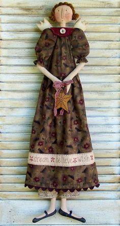 Fairy Dolls, Dolls Dolls, Rag Dolls, Amish Dolls, Paper Dolls Clothing, Primitive Doll Patterns, Homemade Dolls, Angel Crafts, Ann Doll