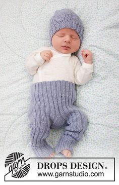 Baby Talk Pants / DROPS Baby 33-31 - Ingyenes kötésminták a DROPS Designtól Baby Knitting Patterns, Knitting For Kids, Knitting Designs, Baby Patterns, Free Knitting, Scarf Patterns, Crochet Patterns, Drops Design, Drops Baby