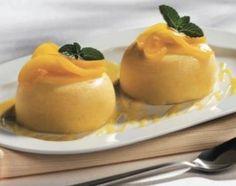 Gelatina de queso crema y durazno