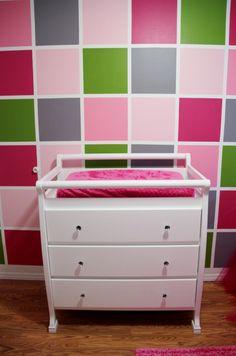 Nursery/bedroom Idea ~ Love the color block wall!