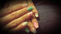 Chantal nail art turchese rosa bianco