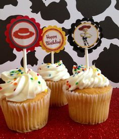 Jessie Toy Story Cupcake Toppers 12 Ready by karlaspartycreations, $6.75