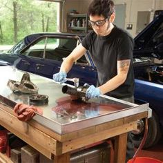 Tips for building the best workbench for auto and small engine repair. Build a grease gun holder and add a central vacuum system to your garage.