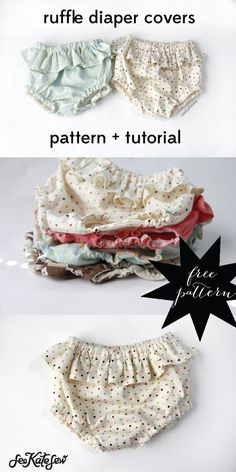 belly + baby // ruffle diaper covers pattern + tutorial - see kate sew baby sewing projects Love Sewing, Sewing For Kids, Sewing Tips, Sewing Hacks, Sewing Ideas, Sewing Basics, Sewing Designs, Basic Sewing, Baby Sewing Projects