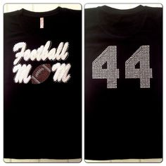 Football Mom Tee Shirt with Custom Jersey Number by Bowfriendz, $28.99