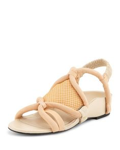 Marquise Tubular Strappy Sandal, Peach by 3.1 Phillip Lim at Bergdorf Goodman.