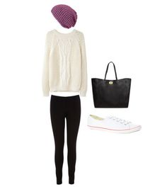 Eleanor inspired airport outfit- requested by anonymous  Jumper  Leggings  Beanie  Shoes  Bag
