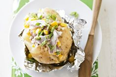 Try these tantalisingly tasty Tuna and corn jacket potatoes.