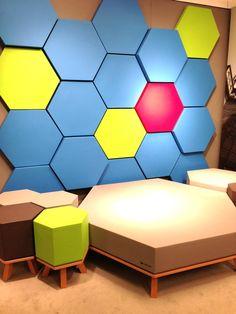 Hexagons to incorporate company branding