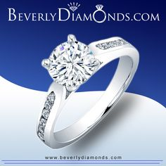 Solitaire Diamond Engagement Rings at www.beverlydiamonds.com Solitaire Diamond, Diamond Engagement Rings, Diamonds, Jewelry, Jewels, Schmuck, Jewerly, Jewelery, Diamond