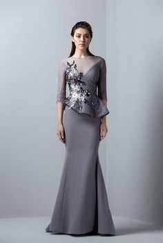 Saiid Kobisy RE 3374 Lilac Grey Color Avilable Size 14 Ready To Ship Authentic We Are Autherize Retrial Girls Formal Dresses, Prom Party Dresses, Elegant Dresses, Beautiful Dresses, Dress Pesta, African Fashion Dresses, Groom Dress, Mode Style, Couture Dresses