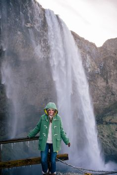 Gal Meets Glam Iceland Itinerary Part 1 - YMC Duffle Coat, Petite Bateau Yellow Jacket, J.Crew Turtleneck, AG Jeans, Sorel Boots, Brown Gloves, J.Crew Socks & Striped Beanie