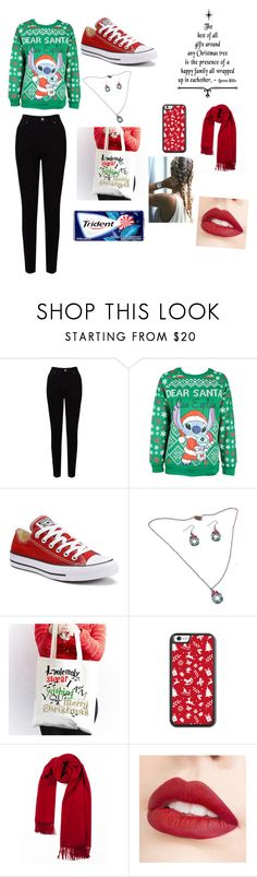 """""""Christmas"""" by yinyang-bestfriend-goals ❤ liked on Polyvore featuring EAST, Disney, Converse and Jouer"""