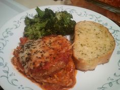 Eggplant Parmesan, the final chapter. I got this recipe from allrecipes. com as well.