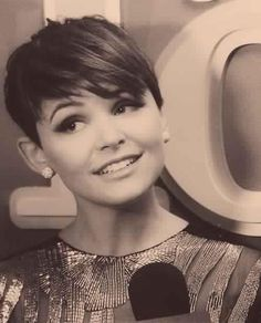 ginnifer goodwin.  I love her and here's why.  She has the haircut I've always wanted with the ears that always keep me from doing it!