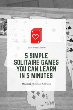 Simple solitiare games that will take just a few minutes to learn, but you'll find that the play is challenging and - you've been warned - addictive. Bar Games, Dice Games, Games To Play, Card Games For One, Fun Card Games, Single Player Card Games, Simple Solitaire, Indoor Games For Kids, Solitaire Games
