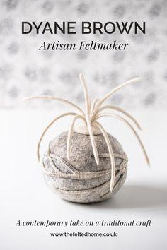 Meet Dyane Brown, Artisan Feltmaker — The Felted Home Wet Felting, Needle Felting, Textile Courses, Surface Design, Lavender, Artisan, Place Card Holders, Brown, Crafts