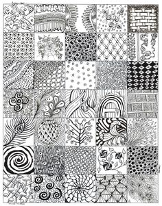 My Zentangle bits 02 After my first 4 zentangles here is the collection of patterns I came up with from things around me and non tangle graphics. Doodles Zentangles, Tangle Doodle, Tangle Art, Zentangle Drawings, Zen Doodle, Doodle Drawings, Doodle Art, Doodle Patterns, Zentangle Patterns