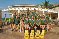 Favourite team of people at dive operator Divetech, West Bay, Grand Cayman.  One big friendly, eco family!