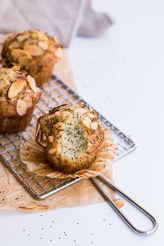 Healthy Almond Poppy Seed Muffins (gluten-free & dairy-free)