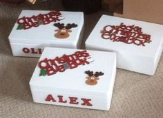 Christmas Eve Box wooden box personalised box by SweetifulnCrafty