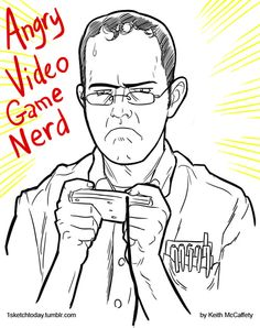 Angry Video Game Nerd #AVGN   - by Keith
