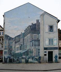 Large scale street art murals
