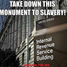 Take down this monument (institution) to slavery!!!
