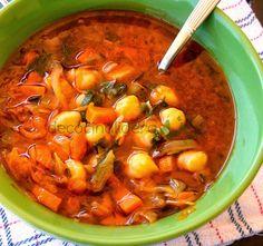 de cocina ligera: Sopa Toscana de garbanzos y verduras