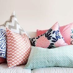 Love the colors and patterns for a bedroom.