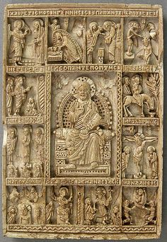 """Icon with Christ Pantepotes and the Chorus of Saints""  14th-15th century  Steatite  8.7 x 5.9 x 0.9 cm  NA  The Metropolitan Museum of Art New York City, NY"