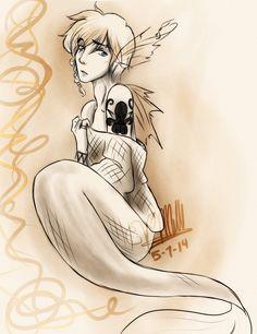 Agender Mermaid by Vmillzy