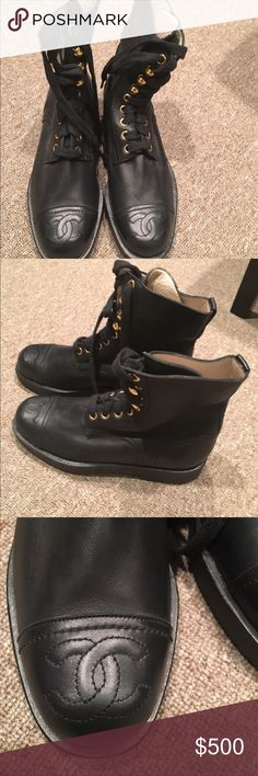 Chanel military style boot Chanel military style boot. Authentic Chanel. CHANEL Shoes Combat & Moto Boots