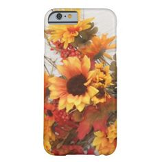 Perfect Fall Orange and Gold Colored Sunflowers Barely There iPhone 6 Case